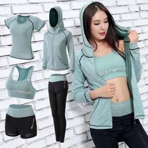 Home 3pcs Workout Yoga Sets Sport Suit Winter Sports Bra Wear+jacket Hoodie+pants Woman Gym Fitness Clothing Yoga Clothes Plus Size