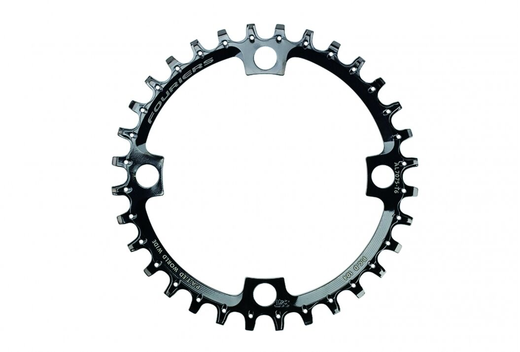 FOURIERS Steel BCD104 Chainring 32-34-36T Tooth Mountain Bike Ti-coated DX009CM