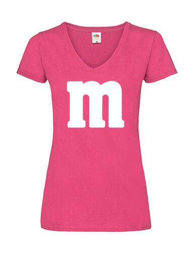 T-Shirt Kostüm V  Ausschnitt Gruppenkostüm für M/&M Karneval M und M Damen