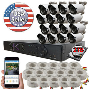 Sikker-Standalone-16-Ch-Channel-DVR-1080P-2-Megapixel-Camera-System-2TB-Package