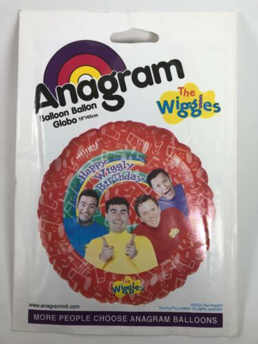 Vintage Anagram Round The Wiggles Happy Wiggly Birthday Foil Balloon 45 cm