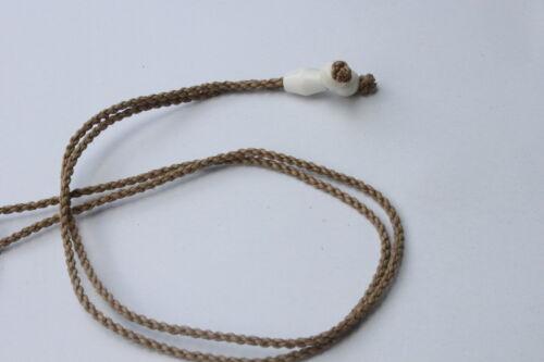 Hawaiian Hawaii Jewelry Buffalo Bone Whale Tail Necklace w// Brown Cord # 35318
