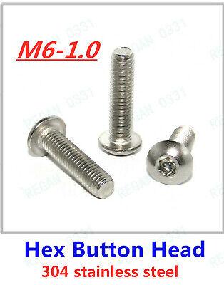 BUTTON HEAD BOLTS M4 ALLEN HEX SOCKET SCREWS STAINLESS STEEL A2 ISO 7380 M4 4mm
