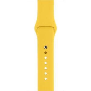 NEW-Genuine-Original-Apple-Watch-Strap-42mm-44mm-Yellow-Sport-Band-MM992ZM-A