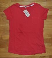 Womens Woolrich Red Basic Pocket T-shirt Size Small