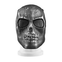 Skull Face Protect Mask Metal Mesh Eye Shield For Bb Gun Wargame Hunting