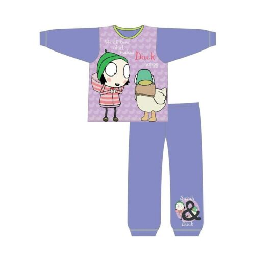 Sarah and Duck Girls Pyjamas PJs Kids Nightwear 18 months to 5 Years Purple