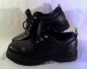 skechers oxfords men's size 13 sn 7111 black leather