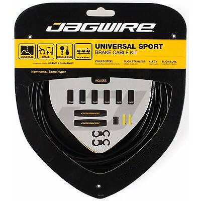 Jagwire Universal Sport Brake Cable & Housing Kit fits SRAM Shimano Bike - Black