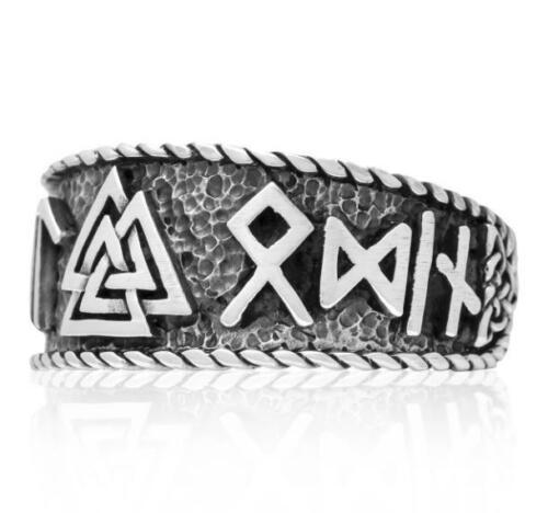 VALKNUT Silber Ring Runen Wikinger Wotansknoten Siegel Viking Celtic Amulett 925