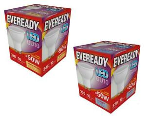 10x Eveready 5W LED GU10 Spotlight Light Bulbs Eq 50W Daylight 6500K