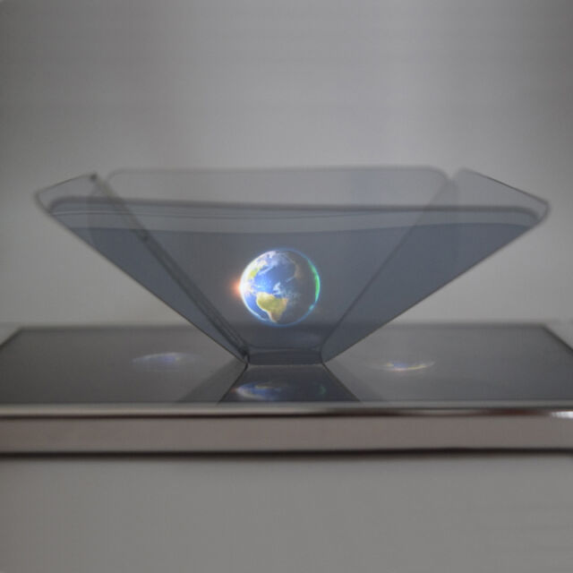 3D Holographic Projector Projection Pyramid For 3.5''~6.5'' Smart Phone Universa