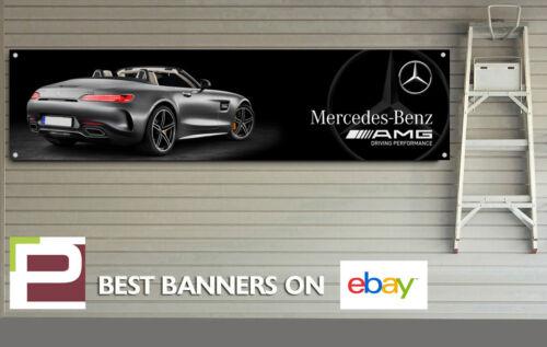 AMG GT Mercedes Benz Banner for Workshop, Garage, Office, PVC with eyelets,