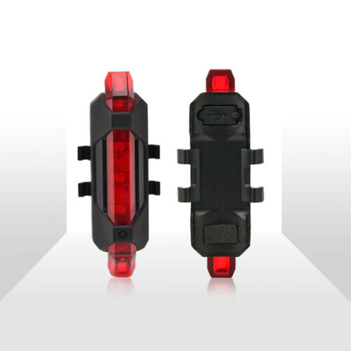 Bicycle Light Waterproof Rear Tail Light LED USB Rechargeable or Battery Safety