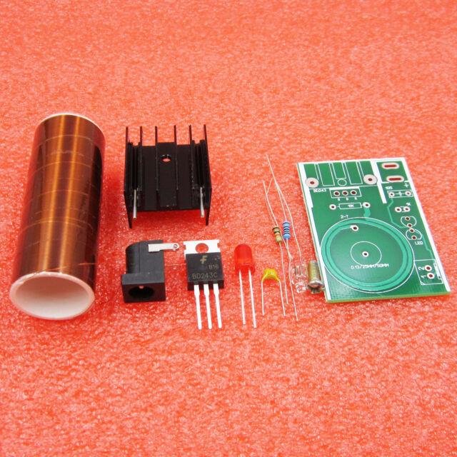 DC 12v Mini DIY Tesla Coil Kit Arc Power Transmission Lighting Wireless  Electric