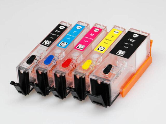 EMPTY Refillable Ink Cartridges PGI-650 CLI-651 for Canon IP8760 IX6860 NEW