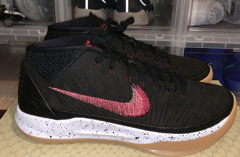 Nike Air Kobe Bryant AD Basketball shoes Mid Black 922484 006 Men's Size 9
