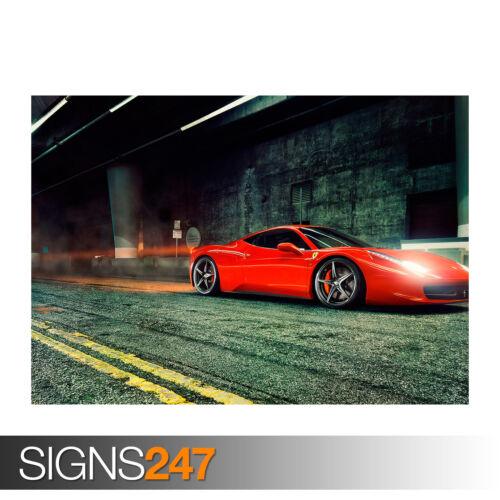 0287 Car Poster Picture Poster Print Art A0 A1 A2 A3 A4 FERRARI 458 ITALIA