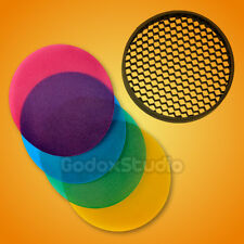 Godox AD-S11 Color Filter w/ Honeycomb Grid Cover Kit for AD200 AD-180 AD-360