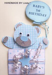 Image Is Loading 3D BABY 039 S 1st BIRTHDAY CARD CRAFT