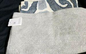 Pottery Barn Linen Blend Fold Over Linen Blend 20 Quot Blue