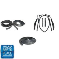 1961-62 Gm B Body 7 Piece Convertible Weatherstrip Seal Kit