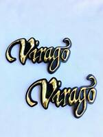 Motorcycle Yamaha Virago Xv 750 1100 Gas Tank Emblem Badge Decals All Years