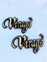 2x Motorcycle Yamaha Virago Xv 250 400 750 1100 Gas Tank Emblem Badge Decals