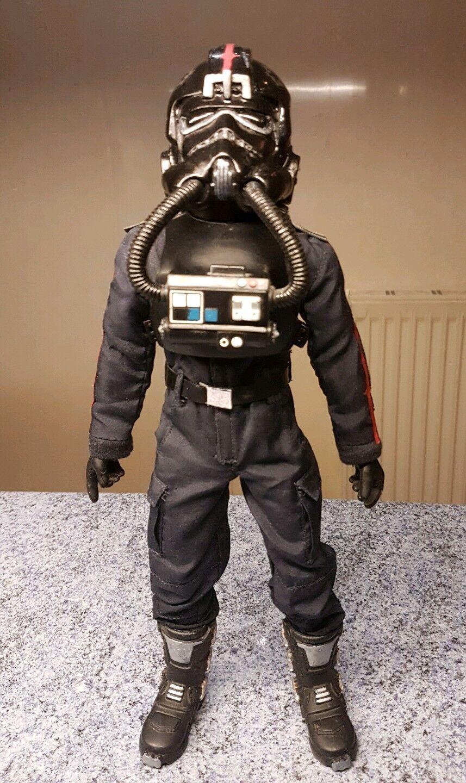 1 6 6 6 scale Star Wars Rogue One TIE fighter pilot  custom 12 inch figure b6e26b