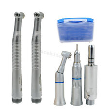 SALE Dental Low &2 high Speed Handpiece kits Push Button 2Hole 1spray E-type box