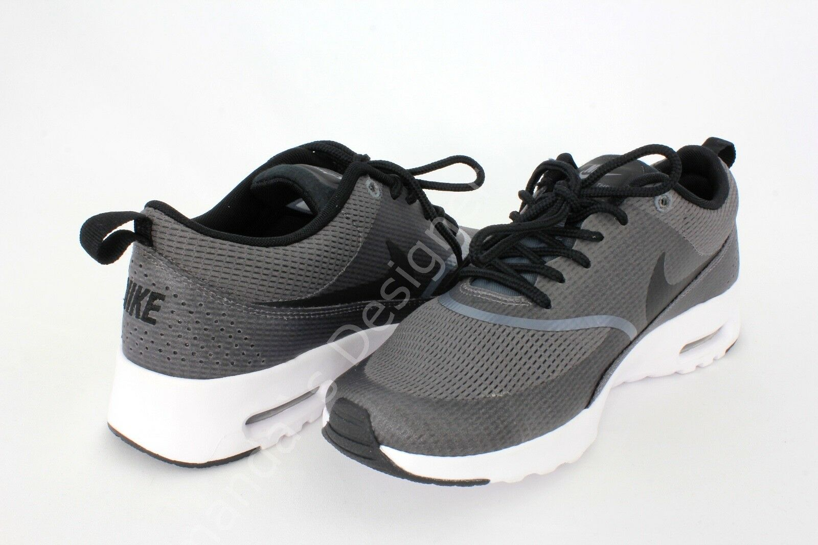 low priced df278 585de ... Nike Air Max Thea Txt Womens shoes Dark Dark Dark Grey Black White Size  8 9b4ce9