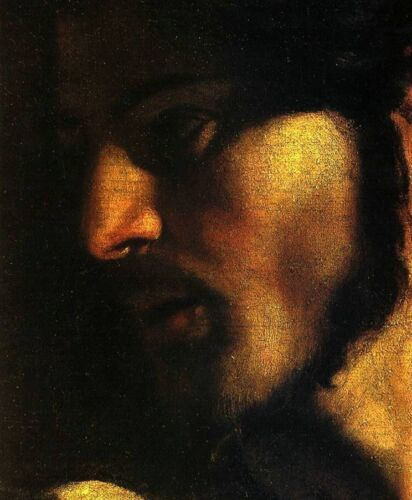 CARAVAGGIO Face of Christ Art Canvas Print High Quality Giclee Small 8x10