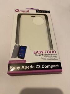 🤩 coque protectio téléphone sony xperia z3 compact slim folio portfolio case