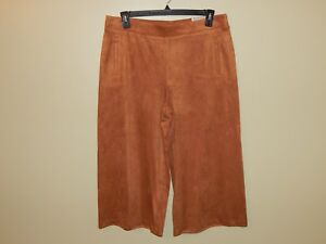 larghi Chicos New Pantaloni pelle Sz in scamosciata Brown 5 firmati Gingerbread Nwt 2 gwFpRqTn