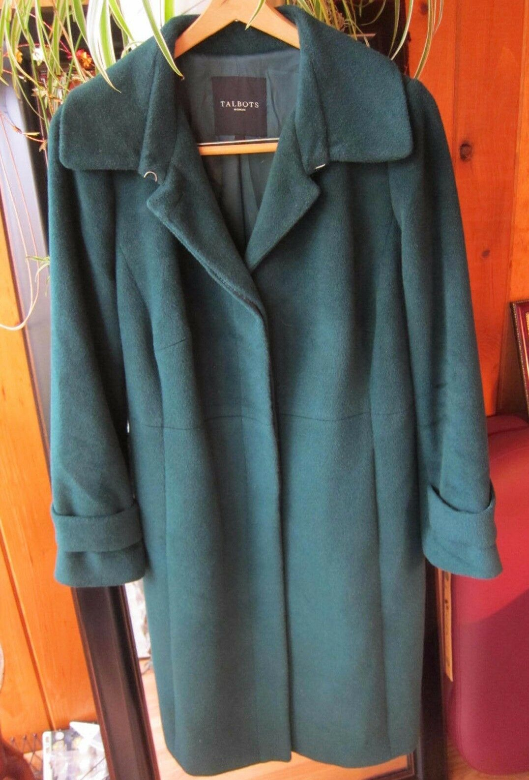 Talbots 12W Forest Green Alpaca Blend Wool Coat Soft, , Gorgeous  Excellent