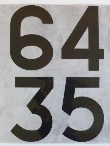FLOCK numero NUMBER Maglia Shirt Germania Germany 1966 1970 NERO BLACK