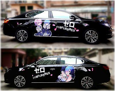 Both Sides Cute Manga Anime Girl Car Hood Doors Graphics Decal Vinyl Sticker