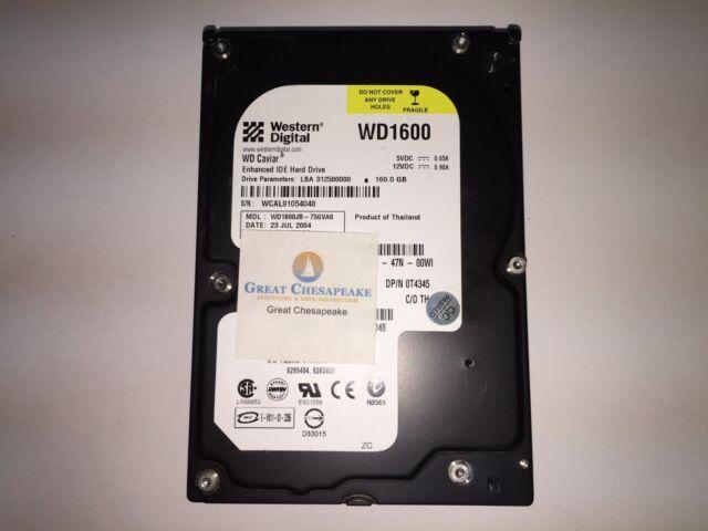 """Western Digital WD1600JB-75GVA0 160GB IDE HSBACTJAA 7200RPM 3.5"""" HDD TESTED!"""