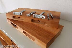 2x Wandboard Erle Massiv Holz Board Regal Steckboard Regalbrett