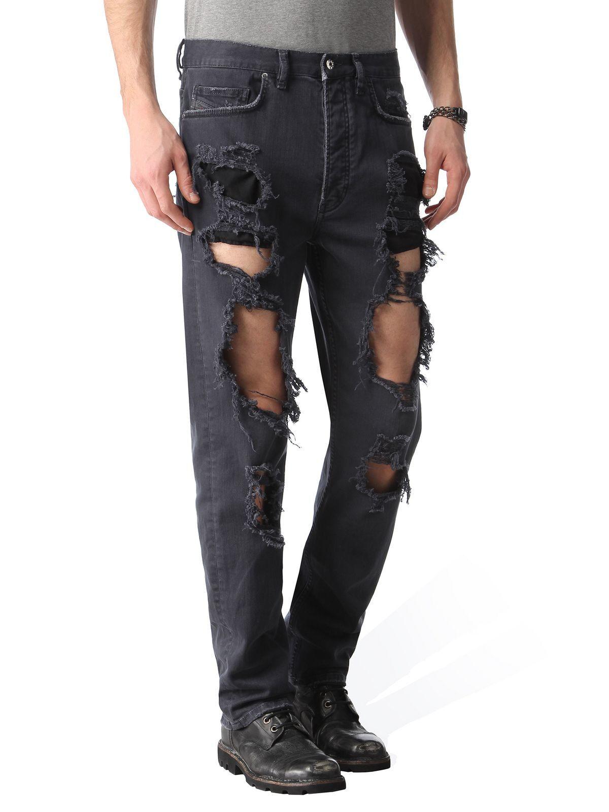 Diesel Herren Destroyed Straight Fit Jeans-Hose Jeans-Hose Jeans-Hose   P-CHEYENNE   W32 L34  435d17