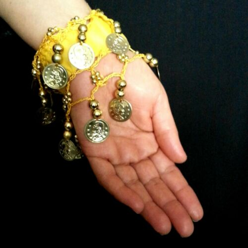 Bauchtanz Tribal orientalisch Armschmuck Armband Armkette Fußkette Gold Münzen