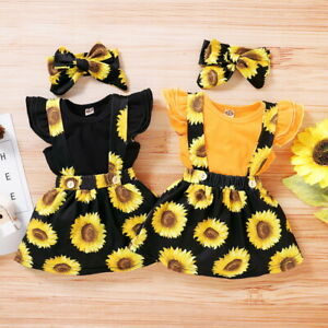 3Pcs-Toddler-Baby-Girl-Floral-Dress-Clothes-Ruffle-Romper-Tops-Skirt-Outfits-Set