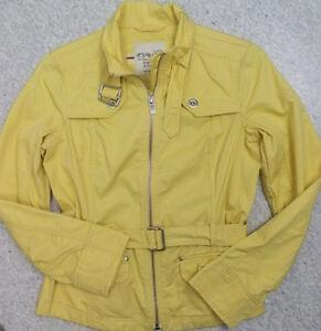 Details zu Jacke Trenchcoat Übergangsjacke Damen Gr.40 Esprit Baumwolle Gelb
