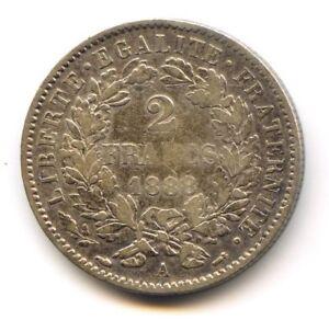 III No Republic (1871-1940) 2 Francs Cérès 1888 Paris