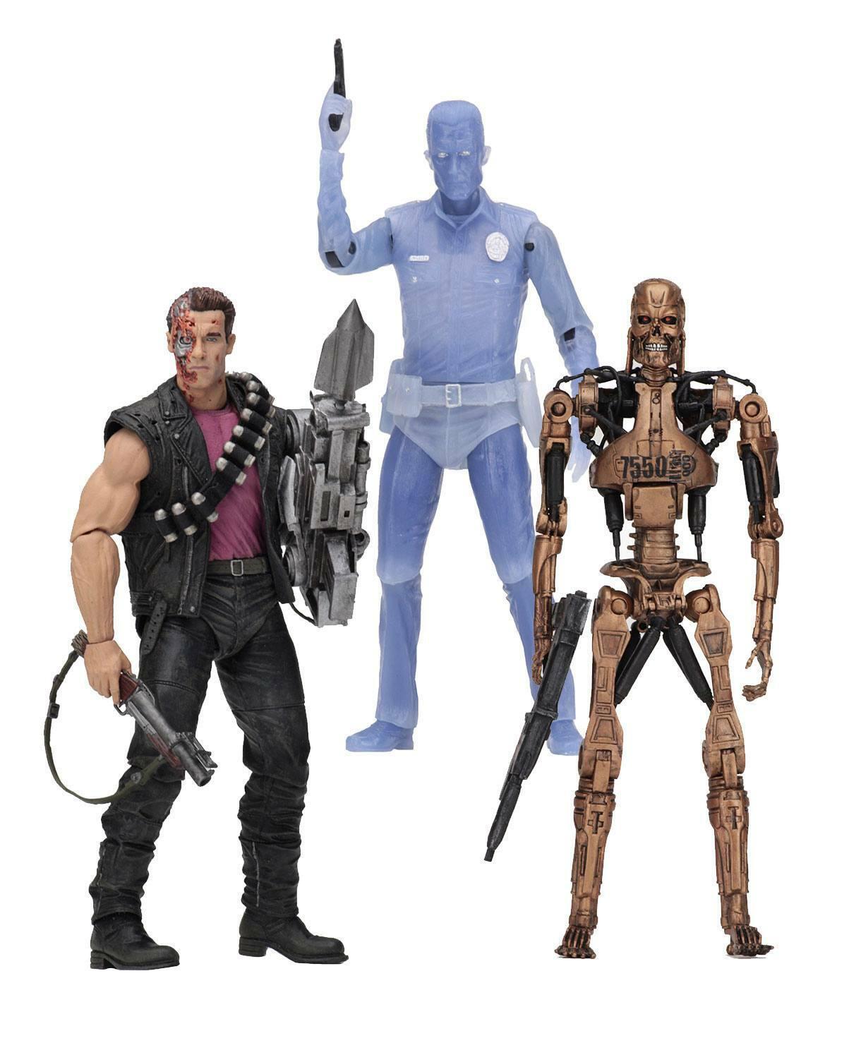 Terminator 2 Actionfigur Set  Connoisseur Tribute  t-1000 endoskeleton neca
