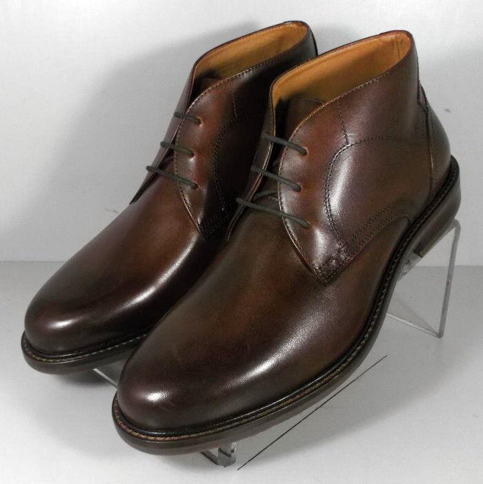209796 FTBT50 Mens Shoes Size 11.5 M Brown Leather Lace Up Boots Johnston Murphy