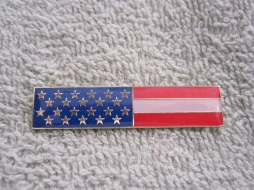 AMERICAN FLAG ENAMEL CITATION BAR PIN UNITED STATES UNIFORM FLAG BADGE