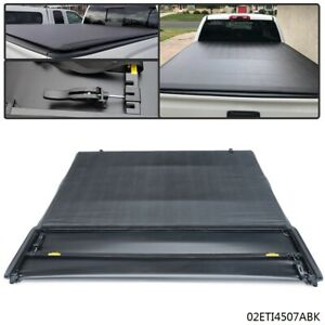 Four-Fold Tonneau Bed Cover Fit  For 14-18 Chevy Silverado GMC Sierra 6.5 Ft