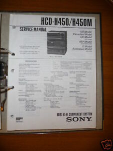 Service-manual Sony Hcd-h450/h450m Hifi-anlage,original Tv, Video & Audio