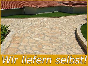 einfahrt mediterrane naturstein terrassenplatten polygonalplatten kroatien 3 5cm ebay. Black Bedroom Furniture Sets. Home Design Ideas